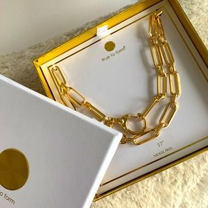 True To Form Gold plated Link Chain